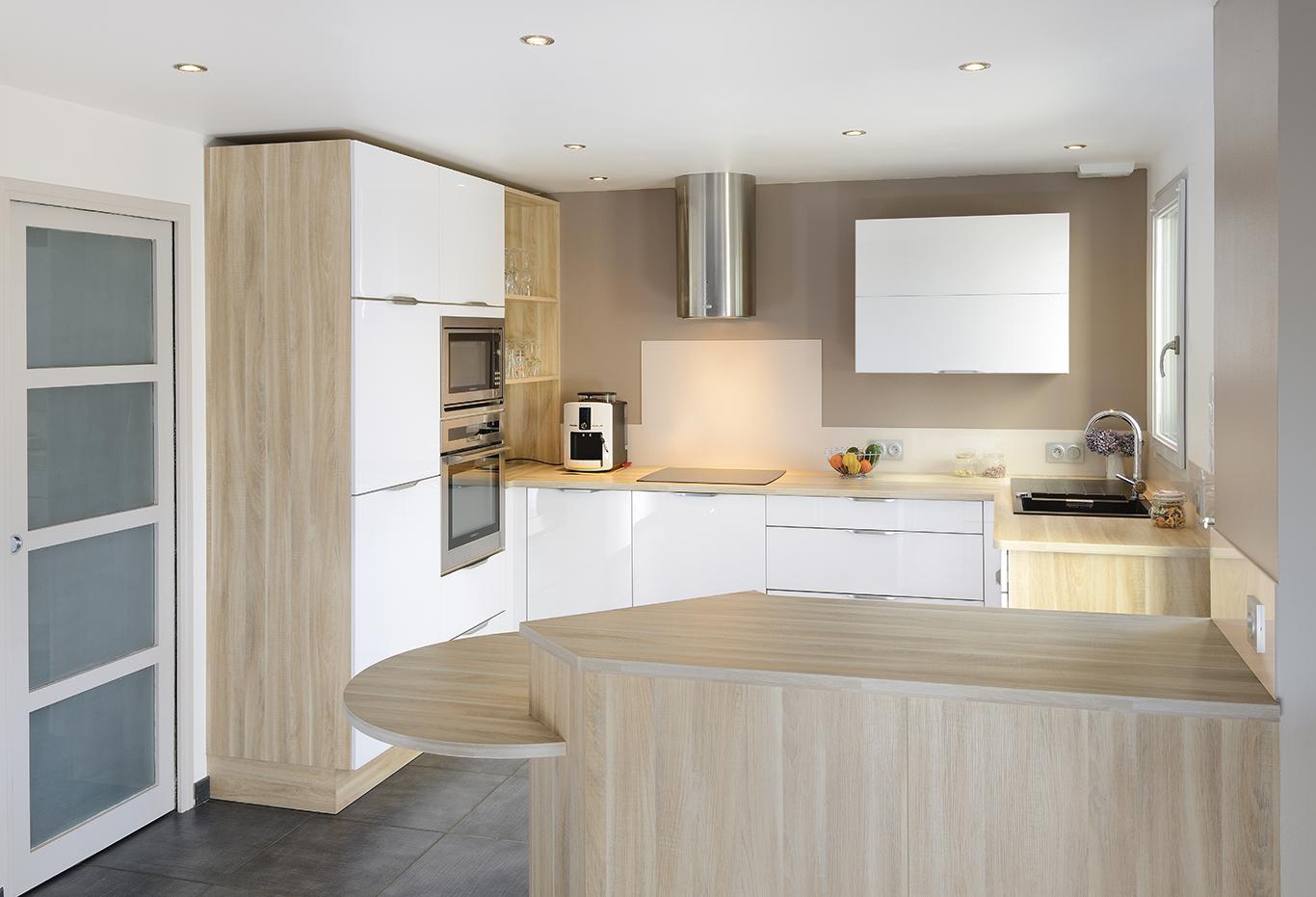 Cuisine Frene Blanc - Maison Design - Edfos.com
